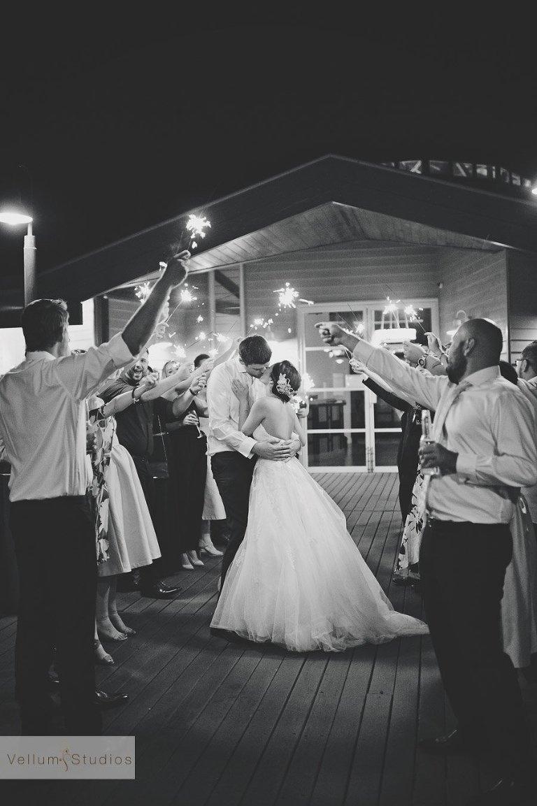 Wedding Photography Brisbane - sparkler exit