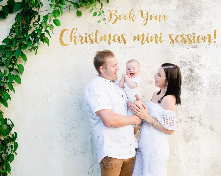 Christmas mini portrait sessions