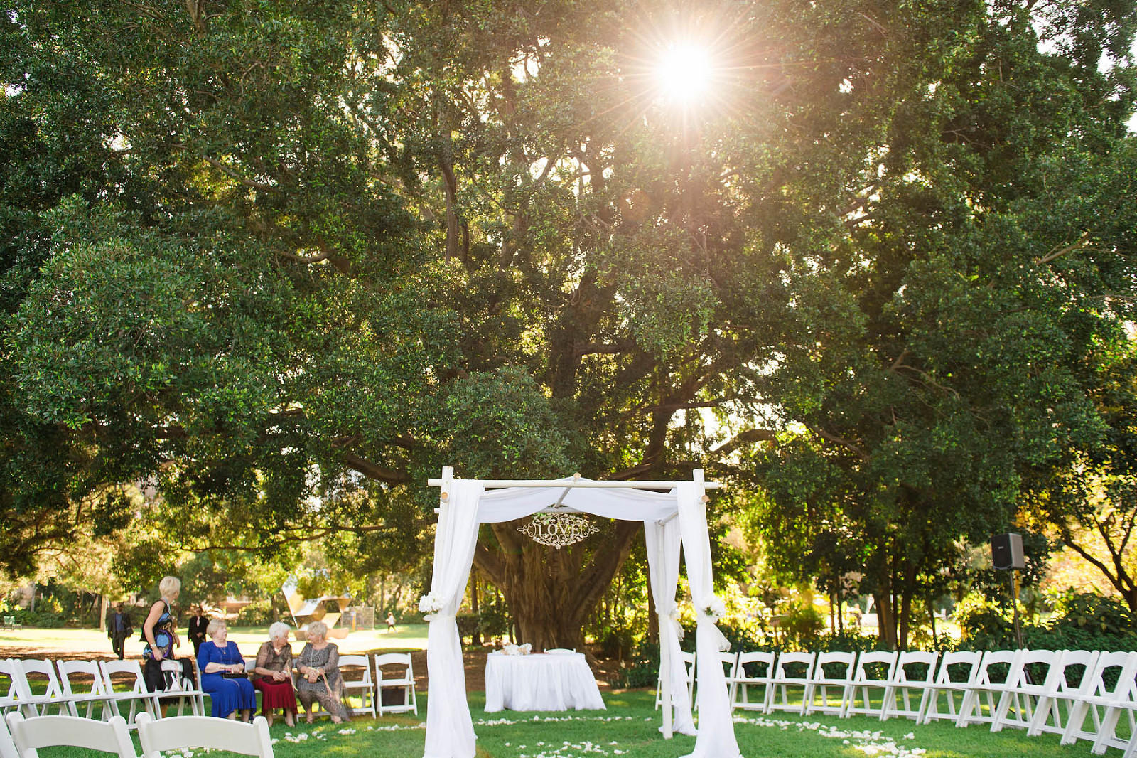Brisbane Botanic gardens wedding ceremony