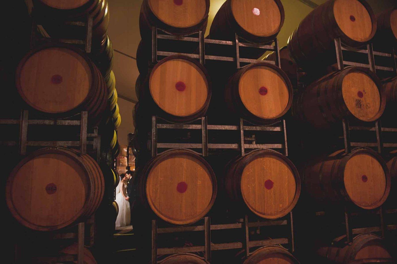 Brisbane wedding reception venue Sirromet winery - barrel room