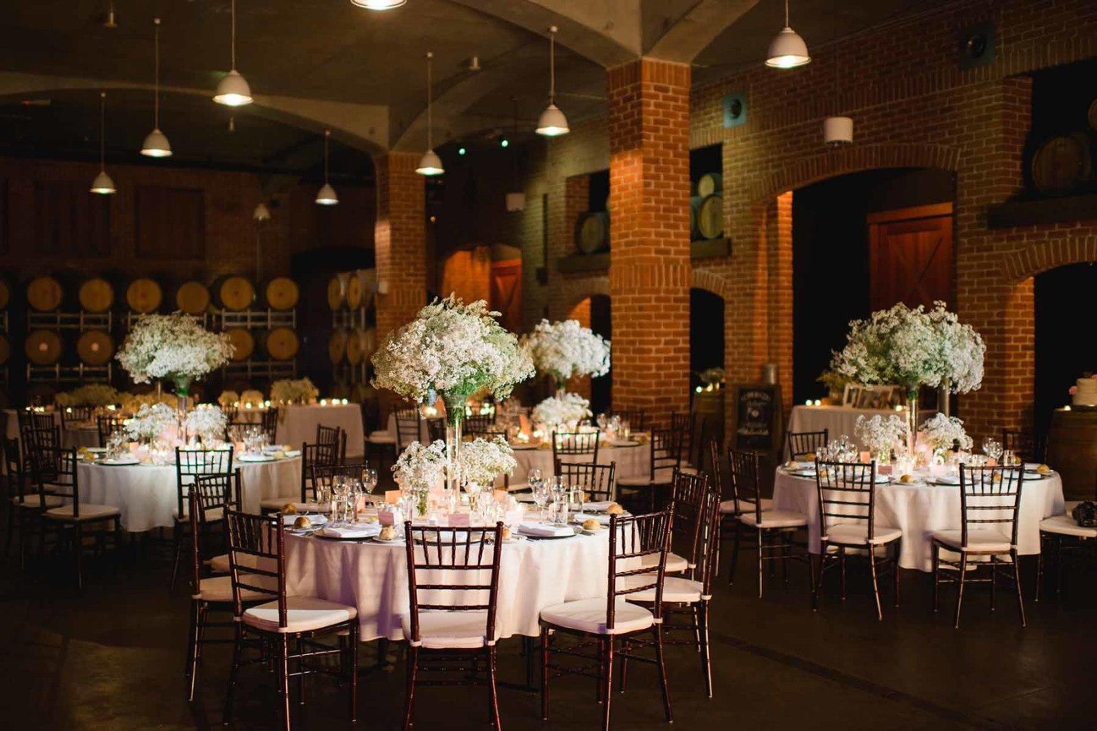 Brisbane wedding reception venue Sirromet winery - tables