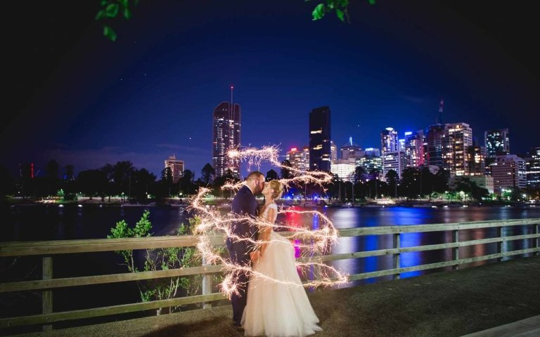 Brisbane Wedding Reception Venue Riverlife - sparkler fun