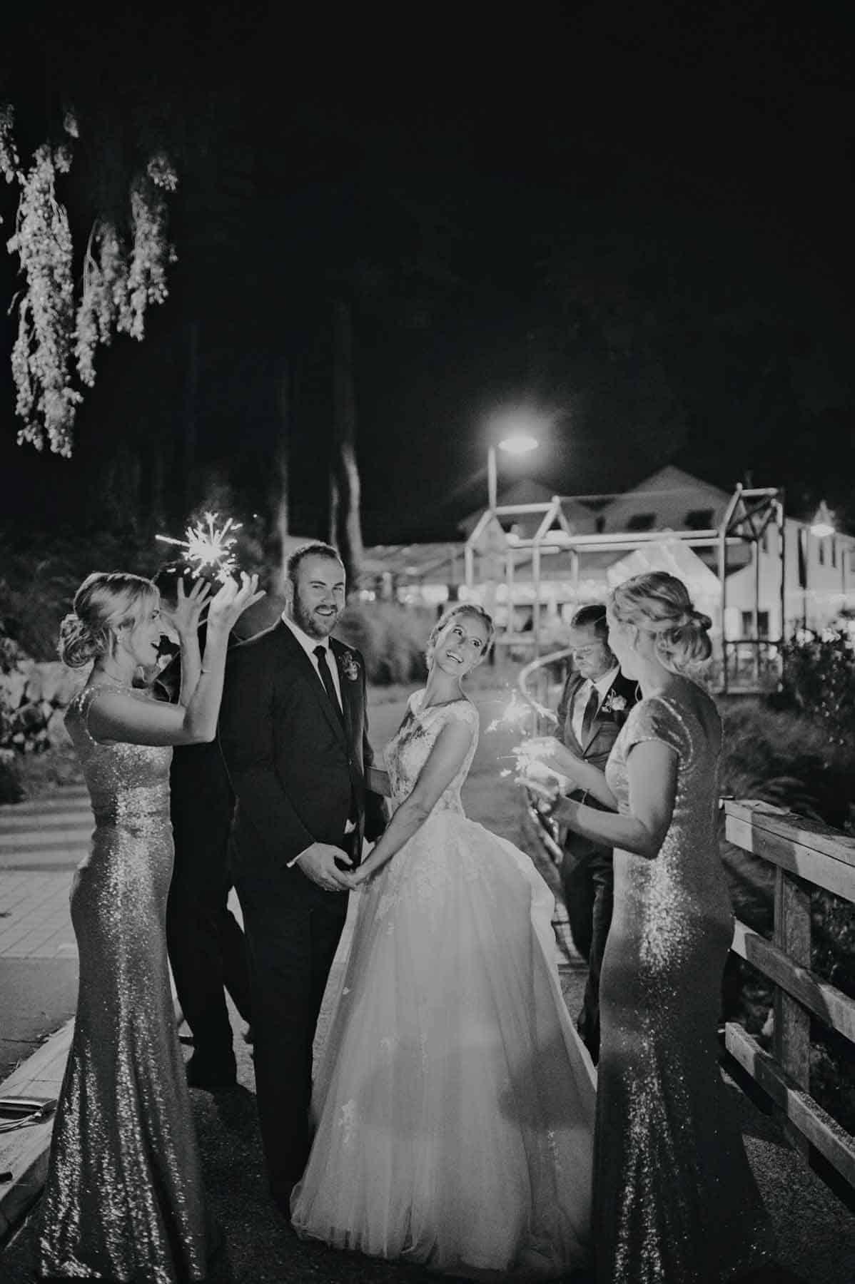 Brisbane Wedding Reception Venue Riverlife - sparklers