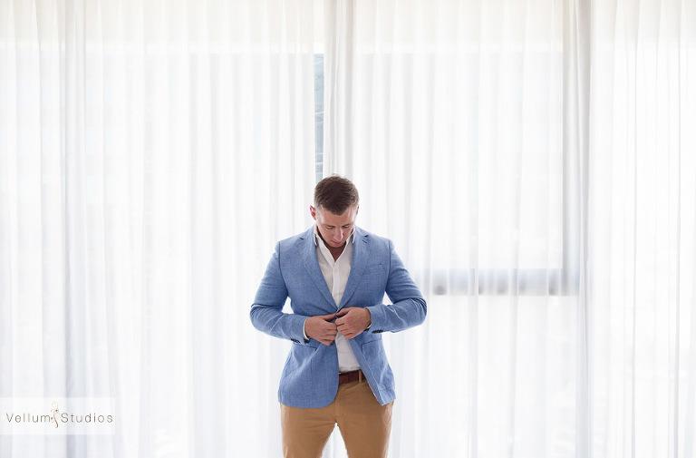 Mr & Mrs Riverbar wedding Brisbane -jacket