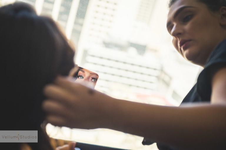 Mr & Mrs Riverbar wedding Brisbane -mirror