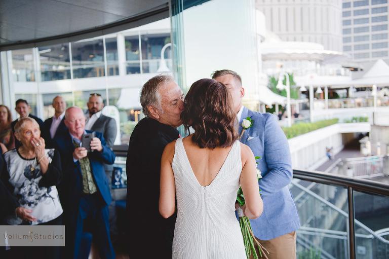 Mr & Mrs Riverbar wedding Brisbane - wedding ceremony