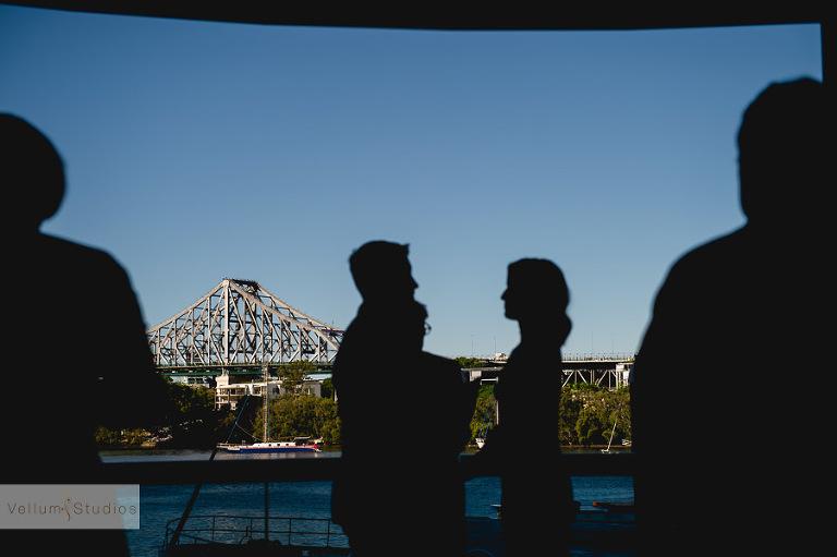Mr & Mrs Riverbar wedding Brisbane - shadow