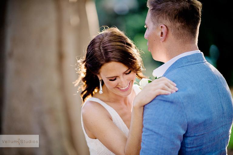 Mr & Mrs Riverbar wedding Brisbane - happy bride