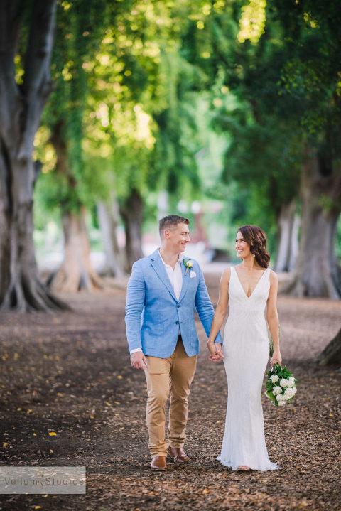 Mr & Mrs Riverbar wedding Brisbane - walking