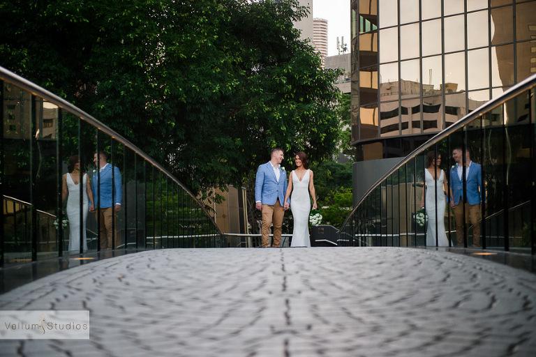 Mr & Mrs Riverbar wedding Brisbane - reflection