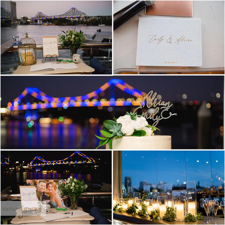Mr & Mrs Riverbar wedding Brisbane - reception details
