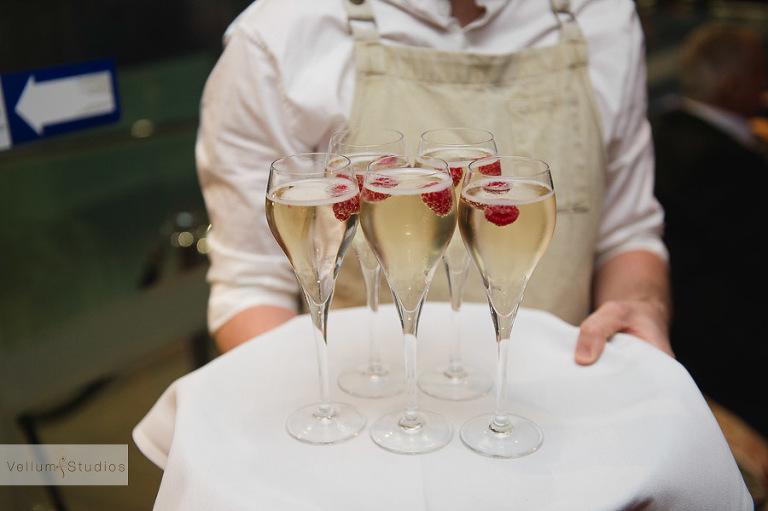 Mr & Mrs Riverbar wedding Brisbane - champagne