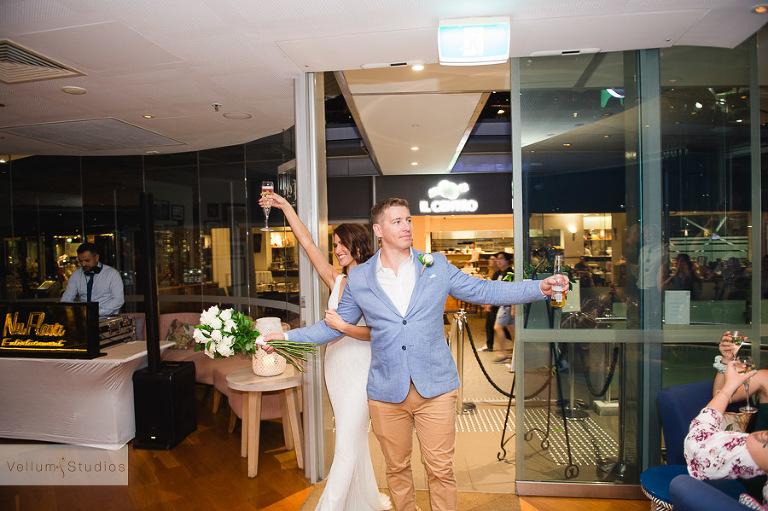 Mr & Mrs Riverbar wedding Brisbane - entrance