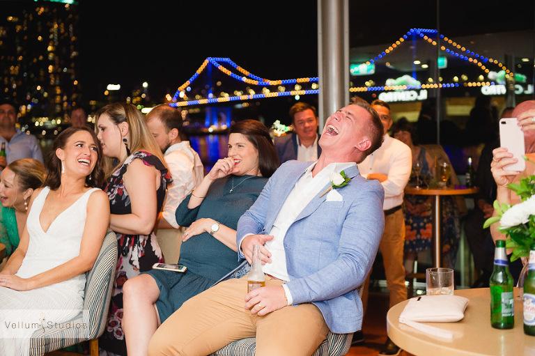 Mr & Mrs Riverbar wedding Brisbane - reception fun